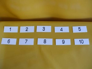 表示板「番号札1~10」(10個セット)屋外可・送料無料