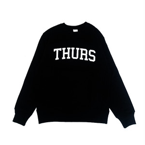 THURSDAY - COLLEGE LOGO CREWNECK (Black)