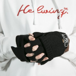 Knit gloves Black