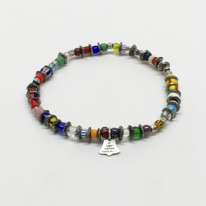 amp japan/Tricolor in African Beads Bracelet