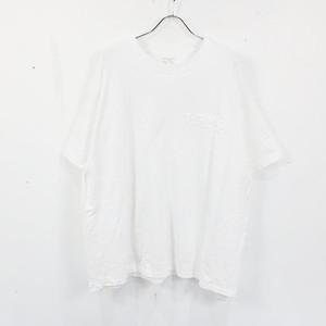 Y's Pink / ワイズピンク | 2020AW | ×FRUIT OF THE LOOM / YOHJI YAMAMOTO ヨウジヤマモト / 立体ロゴTシャツ | 2 | ホワイト | レディース