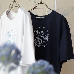 オーガニックコットン・プリントTシャツ *プラネード