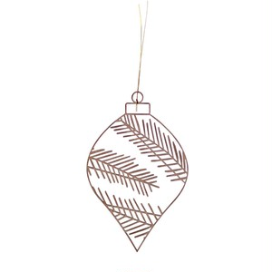 rader  Winter wooden ornament  fir branches