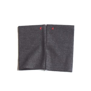 佩 リストマフラー(C/#24 杢ブラック) ウール100%で手首暖か