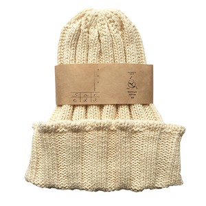 <saredo-されど-> RECYCLED COTTON rib knitted beanie「Cactus」