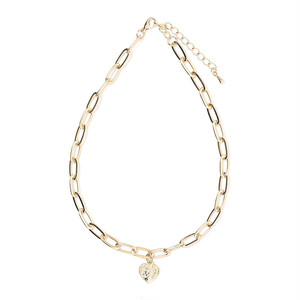 heart coin chain nacklace (S19-10069K)