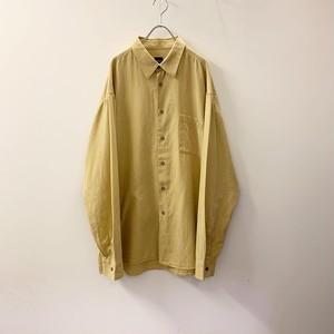 HUGO BOSS コットンシャツ イエロー系 size XL メンズ 古着