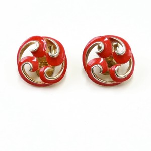 Vintage 70〜80's USA Design Red Earring アメリカ 70〜80年代 ヴィンテージ デザイン イヤリング レッド