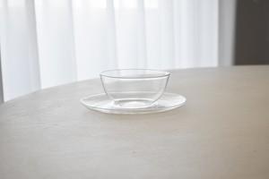 Saale Glas glass sugar bowl(Wilhelm Wagenfeld)