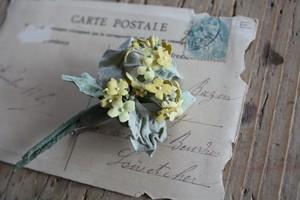 菜の花の布花ブローチ