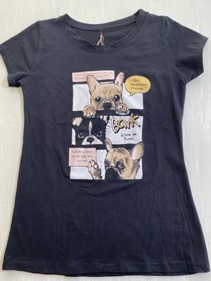 3457【3dog Tシャツ (ブラック)】