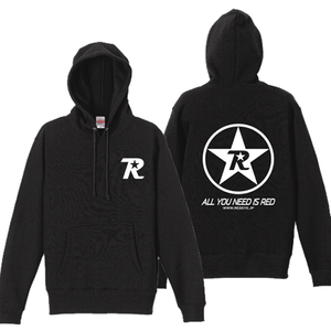 R-logo Breast(BKP:All You Need Is Red ver.) / パーカー(White/Black)【送料無料】【Shop限定】
