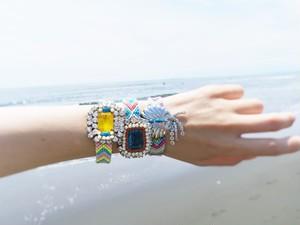 vintage bracelet bijou micanga <MCB-RBdef>