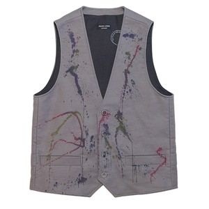 FRANK LEDER GERMAN LEATHER VEST GREY