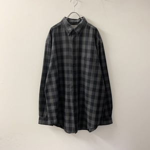 OUTFITTERS コットンネルシャツ ブラック size L メンズ 古着