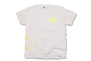 【STAR logo T-shirt】/white×neon yellow