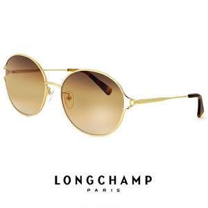 ロンシャン レディース サングラス lo145sj-718 longchamp 女性用 UVカット メタル ゴールド ラウンド オーバル