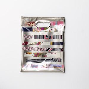【一点もの】No.318   スカーフで作ったPVCクラッチバッグ