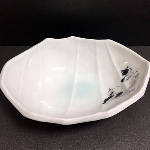 墨絵青磁中鉢