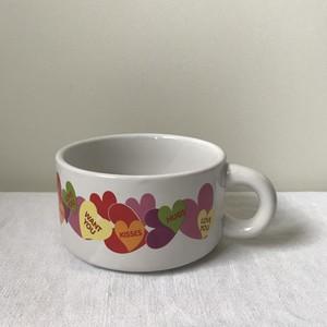 ハート柄のスープカップ