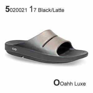 5020021 ウーフォス OOFOS OOahh Luxe 23cm 24cm 25cm 黒 グレー サンダル 高級 ビーチサンダル