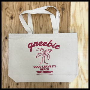 【Greebie】BIGLOGO CANVAS BAG【NATURAL】