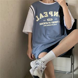 【ユニセックス】フェイクレイヤードバスケットユニフォームTシャツ