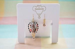 【受注生産】《FABRIC BALLOON mini チョコクリームサンド 片耳》