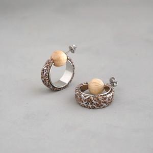 pierced earrings C-P34/earrings C-E34<silver>