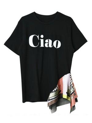 リメイクCiaoロゴTシャツ[Color:ホワイトロゴ×ピンク]