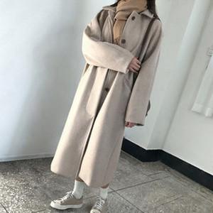 【アウター】秋冬韓国風ロングファッションシングルブレストコート34709262