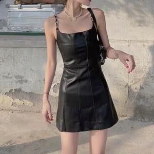 pu leather dress
