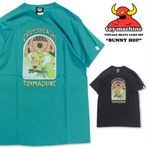 TOY MACHINE トイマシーン 半袖Tシャツ ヴィンテージスケートカード プリント カットソー VINTAGE SKATE CARD SST(BUNNY HOP) TMS20ST5 メンズ レディース ユニセックス