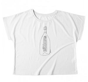 Tシャツ「ラブバブル / Love Bubbles」白 / レディース