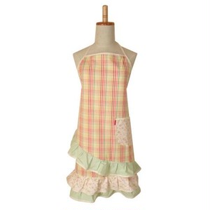 Romantic Apron CHECK×FLOWER by ViolraViol from Argentina