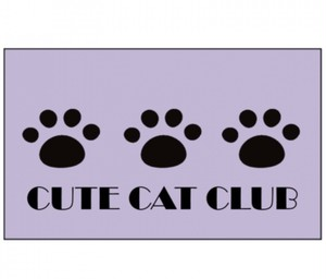 CUTE CAT CLUB 玄関マット Sサイズ(75×45cm)ラベンダー