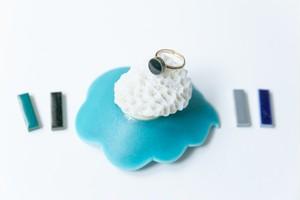 004-r 伝統文化品美濃焼多治見丸タイル指輪・リング(フリーサイズ) ※証明書付