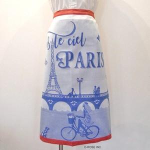 ギャルソンエプロン スール・シエル・ド・パリ(パリの青い空)