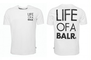 (SOLDOUT)ボーラー/BALR. / Tシャツ / メンズ / LIFE OF A BALR. LOGO T-SHIRT WHITE