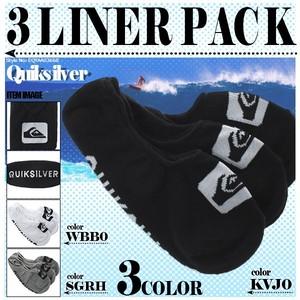 EQYAA03668 クイックシルバー ライナーソックス ソックス 靴下 3足セット スニーカーソックス メンズ 男性 プレゼント 3 LINER PACK QUIKSILVER