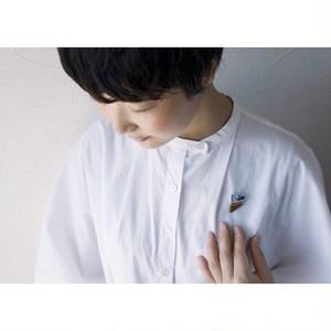 Atsuko Kobayashi【 umi-umi ブローチ〔ほ〕 】シーグラス / 限定 / limited / antique / vintage / brooch / handmade / original / japan