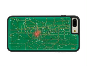 FLASH London回路線図 iPhone7/8Plus ケース 緑【東京回路線図A5クリアファイルをプレゼント】