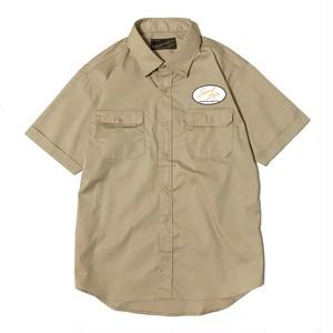 """受注生産!DUCKTAIL CLOTHING S/S WORK SHIRT """"Sweet Life"""" 半袖 ワークシャツ ベージュ"""