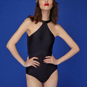【タイ人気ブランド】Coralist Swimwear ハイネックワンピース Tia Mid Night