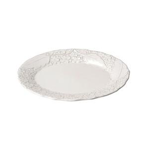 「リアン Lien」オーバルプレート 皿 長幅約25cm ホワイト 美濃焼 267831