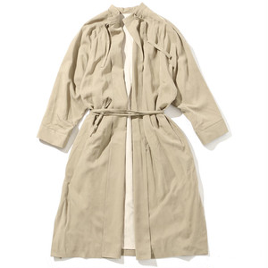 SMOCK DRESS COAT [ BEIGE ]