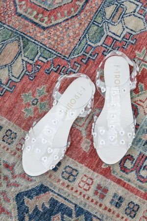 【F-TROUPE】HEART SANDAL-WHITE (DY42)