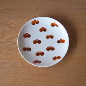 butterfly plate ( brown)