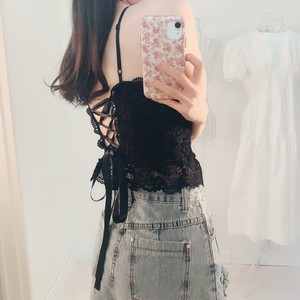 Back ribbon corset camisole