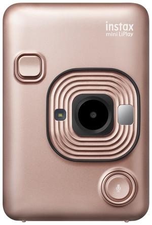 新型チェキ⭐︎超おトクなおためしフィルム+アルバム2大おまけ付き!! ブラッシュゴールド instax mini LiPlay FUJIFILM フジフイルム インスタント写真カメラ その場でプリント